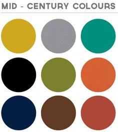 my mid century modern colors. Repinned by Secret Design Studio, Melbourne. www.secretdesignstudio.com - Love these color schemes, just lighter versions of each.
