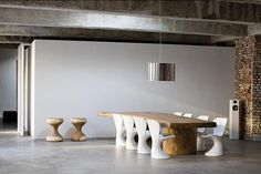 Wood Dining Table & Interior #furniture #modern #contemporary