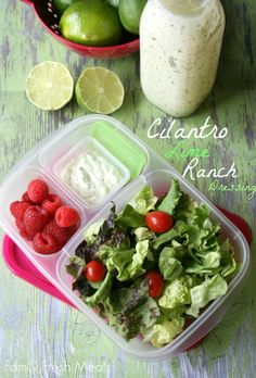 This is the best dressing EVER! Homemade Cilantro Lime Ranch Dressing! Perfect for a picnic...