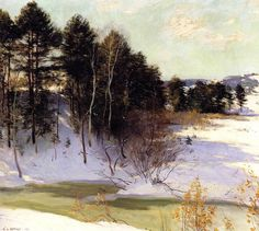 Thawing Brook, 1911  Metcalf, Willard Leroy  Painting Reproductions