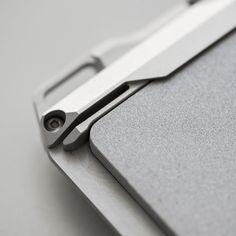 Titanium Wallet, Cobra Weave, Seat Belt Cutter, Silhouette Cameo Tutorials, Id Wallet, Aircraft Design, Machine Design, Packaging, Interface Design