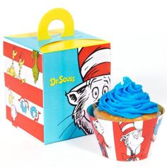 *** Huge discounts available now!: Dr Seuss Party Supplies - Cupcake Wrapper and Box Bundle at baking desserts recipes.