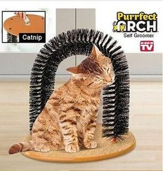 Cat Brush Rub Hair Device Cat Scratching Cat Toys Pet Supplies Scratching Post for Products for Animals