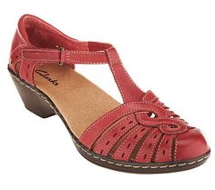 Clarks Leather Cut-out Sandals - Wendy Tiger
