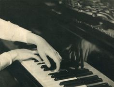 Albin-Guillot, Laure - Playing Piano, 1930