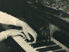 Albin-Guillot, Laure - Playing Piano, 1930