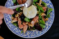 Fig & Goat Cheese Salad - Fahrrad diary Goat Cheese Salad, Fig, Goats, Beef, Trial Bike, Ox, Goat, Figs, Steak