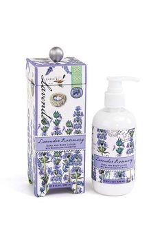 In use as an herb for more than 2500 years the scent of lavender is both soothing and refreshing. Scent: Lavender Rosemary  Shea butter aloe and other botanical ingredients make this silky luxurious lotion perfect for even the driest skin. Beautifully packaged in a keepsake gift box. 8 fl. oz. / 236 ml lotion. Body Lotion by Michel Design Works. Home & Gifts - Gifts - Scents & Bath New York City