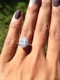 2 Ct Halo Engagement Rings Hand 32