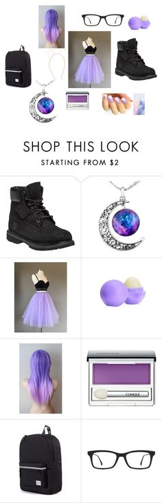 """""""Winter carnival"""" by kawaiiwatermelon101 ❤ liked on Polyvore featuring mode, Timberland, Eos, Clinique, Herschel Supply Co., Ray-Ban en Accessorize"""