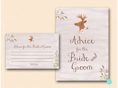 Advice for the Bride and Groom to be Card by MagicalPrintable