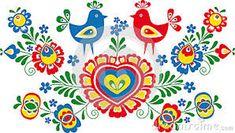 Popular Folk Embroidery Simplified folk ornaments from Moravia - Folk Embroidery, Learn Embroidery, Embroidery Stitches, Embroidery Patterns, Machine Embroidery, Floral Embroidery, Bordado Popular, Antique Quilts, Craft Patterns