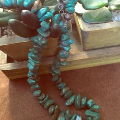 Turquoise Stone Navajo Necklace Old Pawn