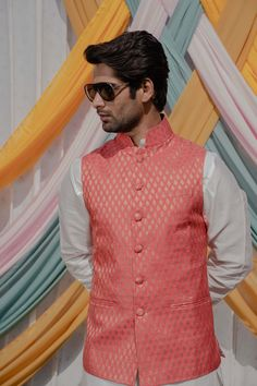 Cotton Silk, White Cotton, Mens Sherwani, Nehru Jackets, Off White, Ethnic, Poses, Pink, Dresses