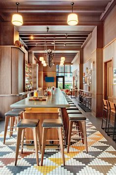 AvroKO Channels Savannah's Culture of Gracious Hospitality at the Perry Lane Hotel in Georgia – Commercial Deco Restaurant, Restaurant Interior Design, Commercial Interior Design, Commercial Interiors, Colorful Restaurant, Modern Restaurant, Cafe Bar, Hotels In Georgia, Hospitality Design