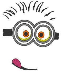 minion face 2 eyes  machine embroidery and by Designsembroidery, $3.49