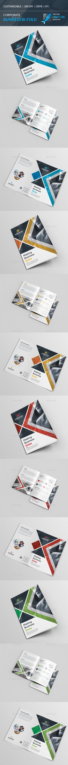 Bi-Fold Brochure Template Vector EPS, AI. Download here: http://graphicriver.net/item/bifold-brochure/15830557?ref=ksioks