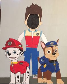 Paw Patrol Face Cutout Board