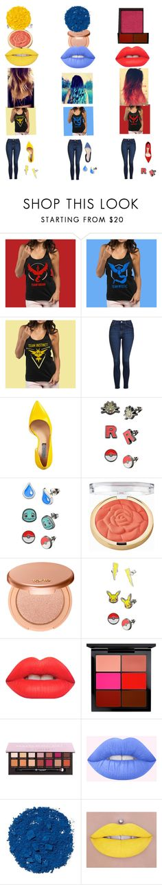 """""""Pokemon Go Teams"""" by kileighj ❤ liked on Polyvore featuring Topshop, INC International Concepts, Milani, tarte, Lime Crime, MAC Cosmetics and Illamasqua"""