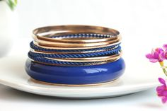Fresh and Gorgeous Multilayer Temperament Royalblue Bracelets for Women