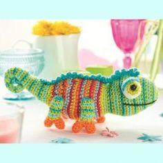 хамелеон карма схема вязания игрушки крючком