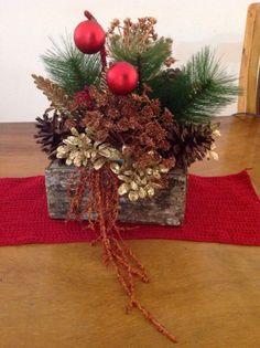 Navidad and mesas on pinterest - Adornos de mesa navidenos ...