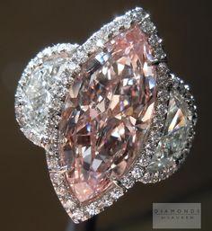 Pink Diamond Ring:  3.09ct Fancy VS2 Marquise Diamond.  diamondsbylauren.com $1,050,000
