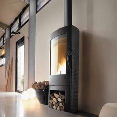 12kW contemporary woodburning stove.