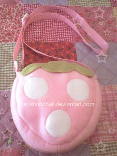 Strawberry bag by VioletLunchell.deviantart.com on @deviantART