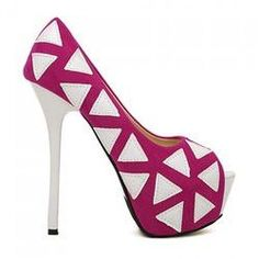 Elegant Style Geometric and High Heel Design Women's Peep Toed Shoes