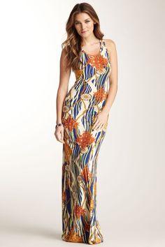 Go Couture Print Scoop Neck Maxi Dress on HauteLook