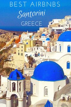 Best Airbnbs in Santorini, Greece: Oia and Fira ~ World On A Whim - 2020 World Travel Populler Travel Country Santorini Travel, Greece Travel, Greece Vacation, Greece Trip, Oia Santorini Hotels, Greece Tours, Greece Hotels, Santorini Greece, Travel Tips