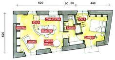 planimetrie case su due piani 60 mq