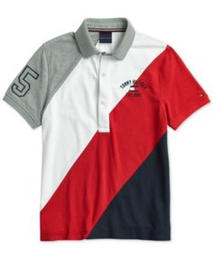 Tommy Hilfiger Adaptive Men's Stripe Polo with Magnetic Buttons - Gray XXL Polo Rugby Shirt, Polo T Shirts, Boys Shirts, Camisa Polo, Nike Clothes Mens, Men Clothes, Nike Outfits, Swagg, Tommy Hilfiger