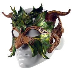 I found 'Celtic Greenman Leather Half-Mask' on Wish, check it out!