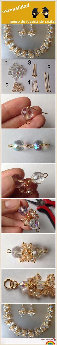 juego de joyería de cristal