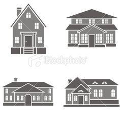 Vector House Illustrations Royalty Free Stock Vector Art Illustration