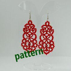 Tatting Pattern Lace Earrings PDF Pattern by TattingLaceJewellery