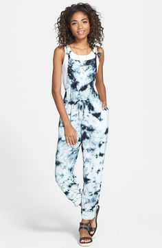2a07fcfdd1c Wyldehart  Lalis  Print Drawstring Jumpsuit (Juniors) available at   Nordstrom Cute Rompers