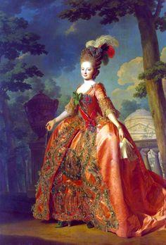 Portrait of Maria Feodorovna by Alexander Roslin (1777)