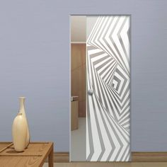 Eclisse 10mm Avalon Sandblasted Design on Clear or Satin Glass Syntesis Pocket Door.    #glassdoor  #framelessglassdoor  #pocketglassdoor