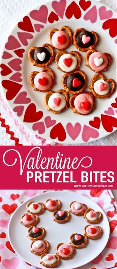 valentine heart pretzel bites mini twist pretzels with candy melt centers and heart sprinkles - Valentine Minute To Win It Games