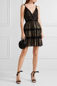 Shop on-sale Olive tiered lace mini dress. Browse other discount designer Mini Dress & more luxury fashion pieces at THE OUTNET Floral Lace Dress, Lace Ruffle, Ruffle Dress, Wrap Dress Short, Short Dresses, Olive Style, Green Cocktail Dress, Cocktail Dresses, Olive Green Dresses