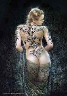 51458 Luis Royo - Tattoo & Veil Fabric Poster – Preegle.com