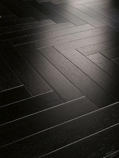 Parador Parquet Trendtime 3 Living Oak black Matt Stab (Individual look) Black Laminate Flooring, Black Wood Floors, Engineered Wood Floors, Linoleum Flooring, Basement Flooring, Living Room Flooring, Timber Flooring, Parquet Flooring, Bedroom Flooring