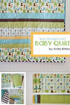 Step-by-step simple baby quilt tutorial | DIY quilt | easy quilt tutorial for beginners