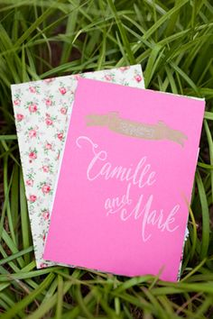 Yeah, I'm asking you out! pink + calligraphy #invitation