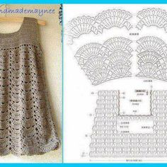Cute crocheted tunic