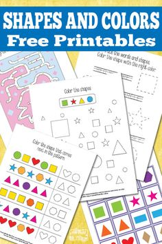 Easy learning pack for kindergarten and preschool to help with shapes and colors