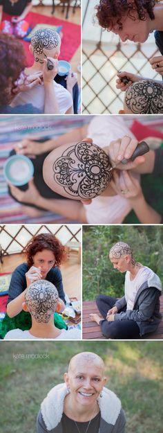 Brisbane Henna Photographer | Henna | Henna Crown | Cancer | Portrait Photography | www.katemodlock.c...